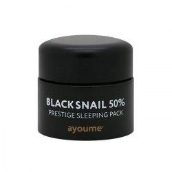 Ночная маска для лица с муцином черной улитки AYOUME Black Snail Prestige Sleeping Pack 50 мл
