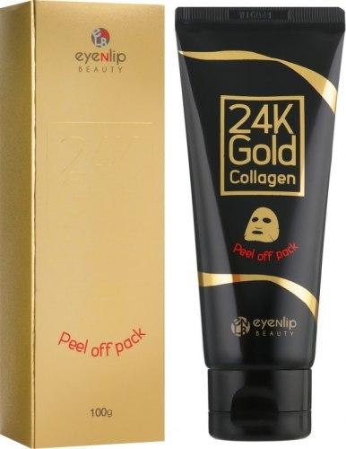 Очищающая маска-пленка для лица с золотом EYENLIP 24K Gold Collagen Peel Off 100г