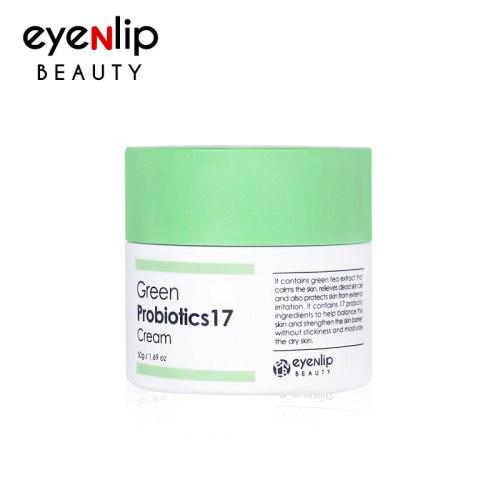 Крем с пробиотиками и зеленым чаем EYENLIP Green Probiotics 17 Cream 50мл