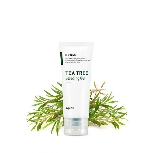 Ночной гель - маска для лица A'PIEU Nonco Tea Tree Sleeping Gel 80мл