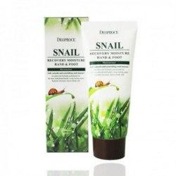 Улиточный крем для рук и ног DEOPROCE Moisture Hand & Food Snail Recovery 100мл