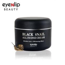 Регенерирующий крем для лица с муцином черной иберийской улитки EYENLIP Black Snail All in one Cream 100мл