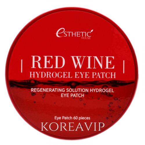 Гидрогелевые патчи для глаз КРАСНОЕ ВИНО RED WINE HYDROGEL EYE PATCH ESTHETIC HOUSE