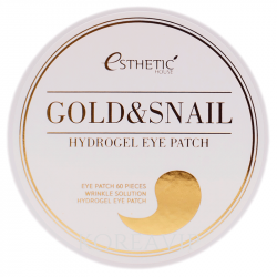 ESTHETIC HOUSE Гидрогелевые патчи для глаз ЗОЛОТО/УЛИТКА GOLD&SNAIL HYDROGEL EYEPATCH ESTHETIC HOUSE