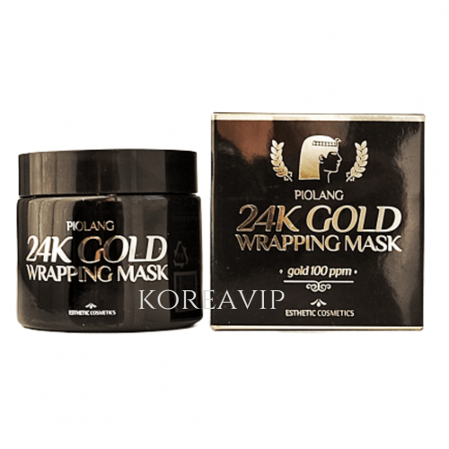 Маска для лица с 24 К золотом PIOLANG 24k GOLD WRAPPING MASK ESTHETIC HOUSE