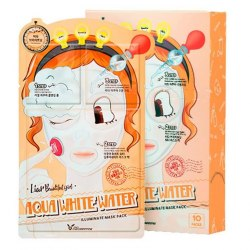 Elizavecca Маска трехэтап. УВЛАЖНЯЮЩАЯ 3-step Aqua White Water Illuminate Mask Sheet Elizavecca