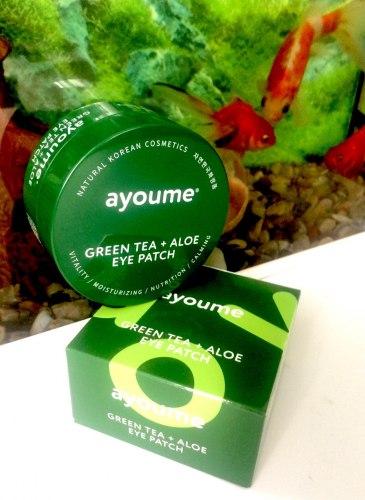 AYOUME Гидрогелевые патчи для глаз от отечности с экстрактом зеленого чая и алоэ AYOUME GREEN TEA+ALOE EYE PATCH AYOUME