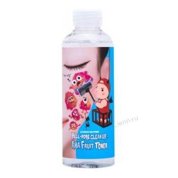 Тонер-пилинг с фруктовыми кислотами Hell-Pore Clean Up Aha Fruit Toner, 200 мл Elizavecca