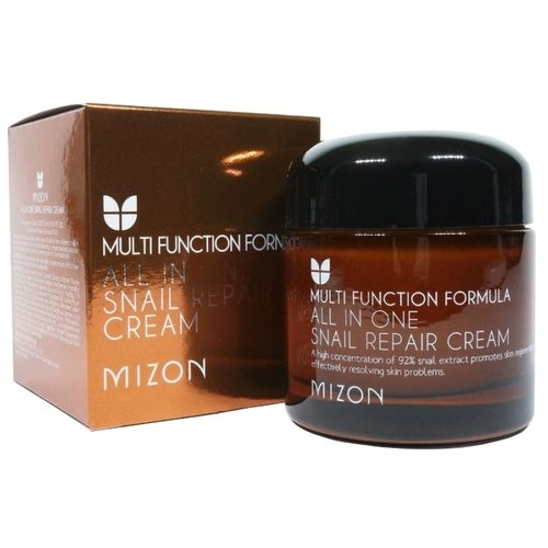 Восстанавливающий крем с экстрактом улитки All In One Snail Repair Сream MIZON