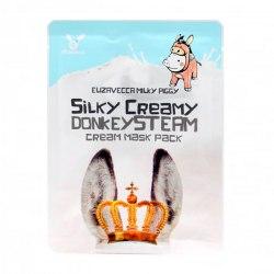 Маска тканевая с паровым кремом ОСЛИНОЕ МОЛОКО Silky Creamy donkey Steam Cream Elizavecca