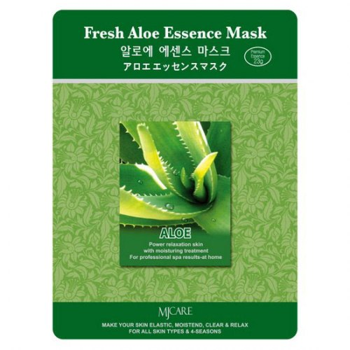 Маска тканевая алоэ Fresh Aloe Essence Mask MIJIN