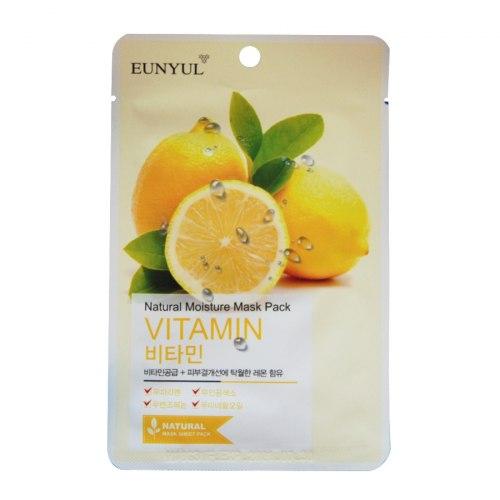 Маска тканевая с витаминами Natural Moisture Mask Pack Vitamin 22 мл Eunyul