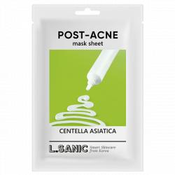 Тканевая маска с экстрактом центеллы азиатской против постакне L.SANIC