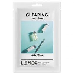 Тканевая маска с AHA/BHA кислотами для очищения пор L.SANIC