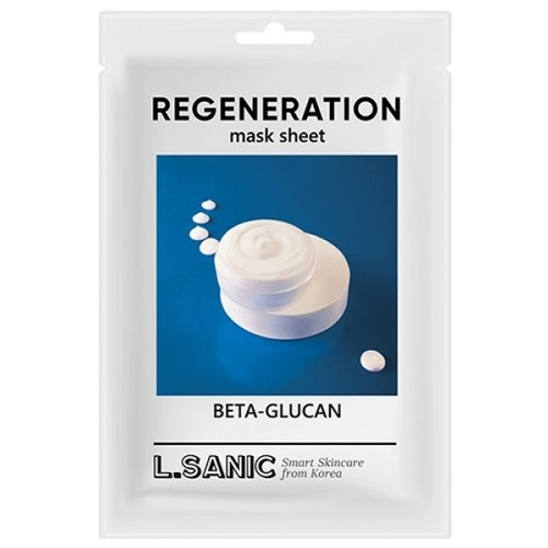 Восстанавливающая тканевая маска с бета-глюканом L.SANIC
