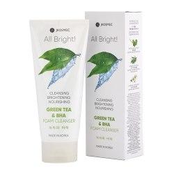 Ежедневная пенка для умывания с экстрактом зеленого чая и BHA кислотами ALL BRIGHT BASIC GREEN TEA AND BHA FOAM CLEANSER JKOSMEC