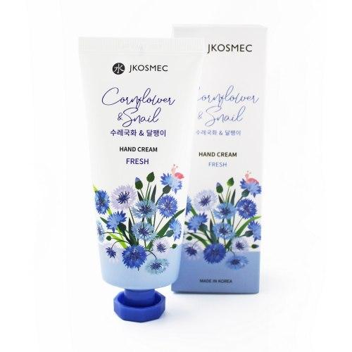Крем для рук с экстрактом цветков василька и муцином улитки CORNFLOWER & SNAIL HAND CREAM JKOSMEC
