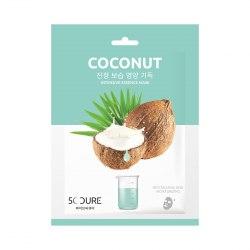 Маска для лица ампульная с экстрактом кокоса 5C CURE COCONUT INTENSIVE AMPOULE MASK JKOSMEC