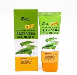 Солнцезащитный крем с алоэ-вера UV SOOTHING & MOISTURE ALOE VERA SUN BLOCK SPF 50 PA+++ EKEL
