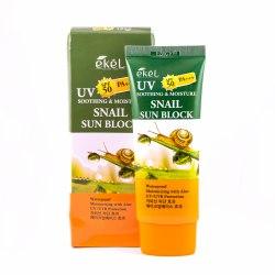 Солнцезащитный крем с муцином улитки UV SOOTHING & MOISTURE SNAIL SUN BLOCK SPF 50 PA+++ EKEL