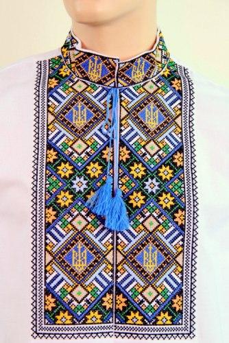 Мужская вышиванка Тризуб