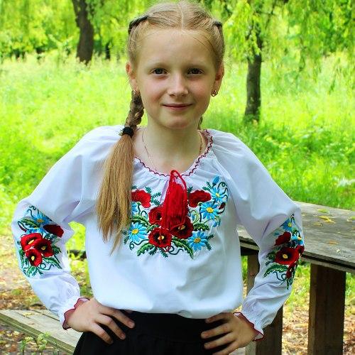 Детская вышитая блуза МакРо
