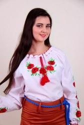 Подростковая вышитая блуза Еко-мак (дл./кор. рукав)