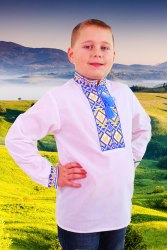 Детская вышиванка для мальчика Тризуб