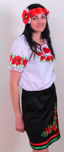 Вышитая блуза Еко-мак (дл./кор. рукав)