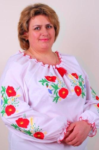 Вышитая блуза Колосок