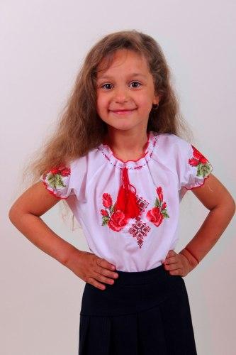 Детская блуза Зорянка (кор. рукав)