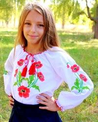 Детская вышитая блуза Маричка