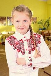 Детская вышитая блуза Школярка