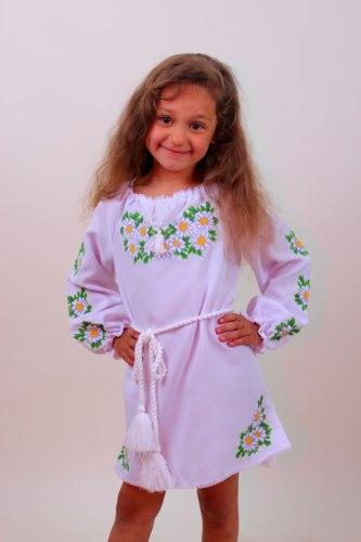 Детское вышитое платье Ромашки