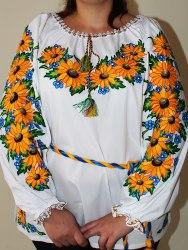 Вышитая блуза Подсолнухи