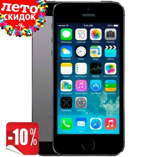 Копия iPhone 5s 2-ядра |Android 4.0| 3G Space gray apple