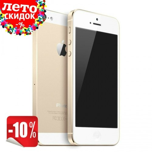 Копия iPhone 5s 2-ядра |Android 4.0| 3G Gold apple