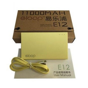 Eloop E12 Power bank 11000mAh Yellow