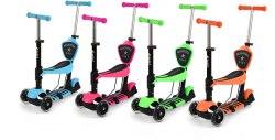 Самокат детский со светящимися колесиками Scooter Mini 5 in 1