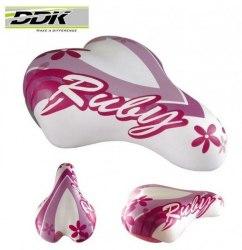 Седло DDK 1216 Ruby (белый/розовый)