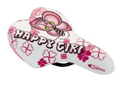 Седло DDK 1217A Happi girl (белый/розовый)