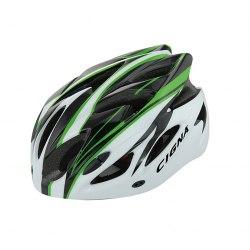 Шлем велосипедный Cigna WT-012 (чёрный/зелёный/белый)