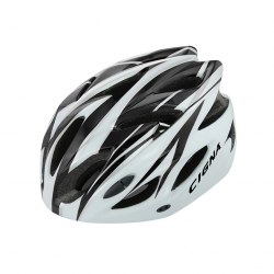 Шлем велосипедный Cigna WT-012 (чёрный/белый)