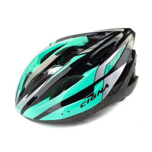 Шлем велосипедный Cigna Cigna WT-040 (чёрный/зелёный/белый)
