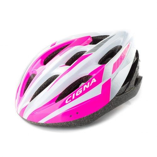 Шлем велосипедный Cigna WT-040 (чёрный/розовый/белый)