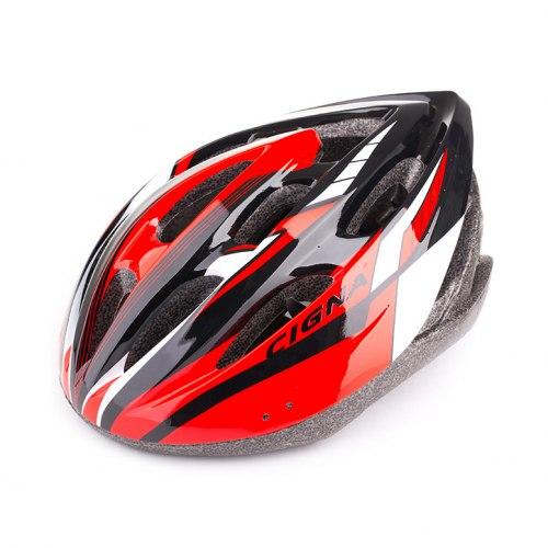 Шлем велосипедный Cigna WT-040 (чёрный/красный/белый)