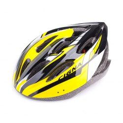 Шлем велосипедный Cigna (чёрный/жёлтый/белый)