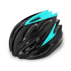 Шлем велосипедный Cigna WT-029 (чёрный/голубой)