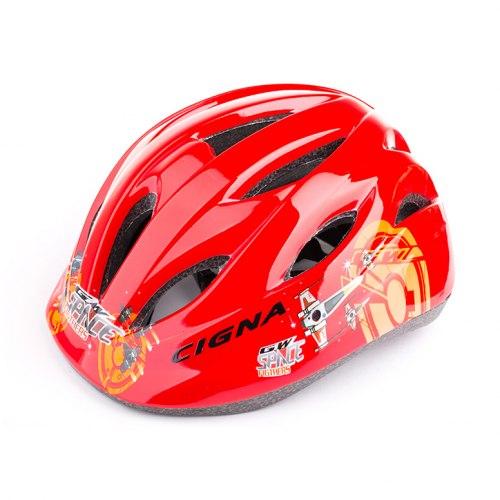 Шлем велосипедный детский Cigna WT-021 (чёрный/красный 2)