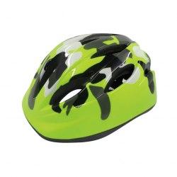 Шлем велосипедный детский Cigna WT-021 (чёрный/зелёный хаки)